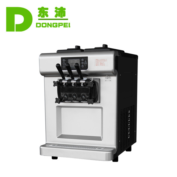 3 Flavor Soft Ice Cream Machine