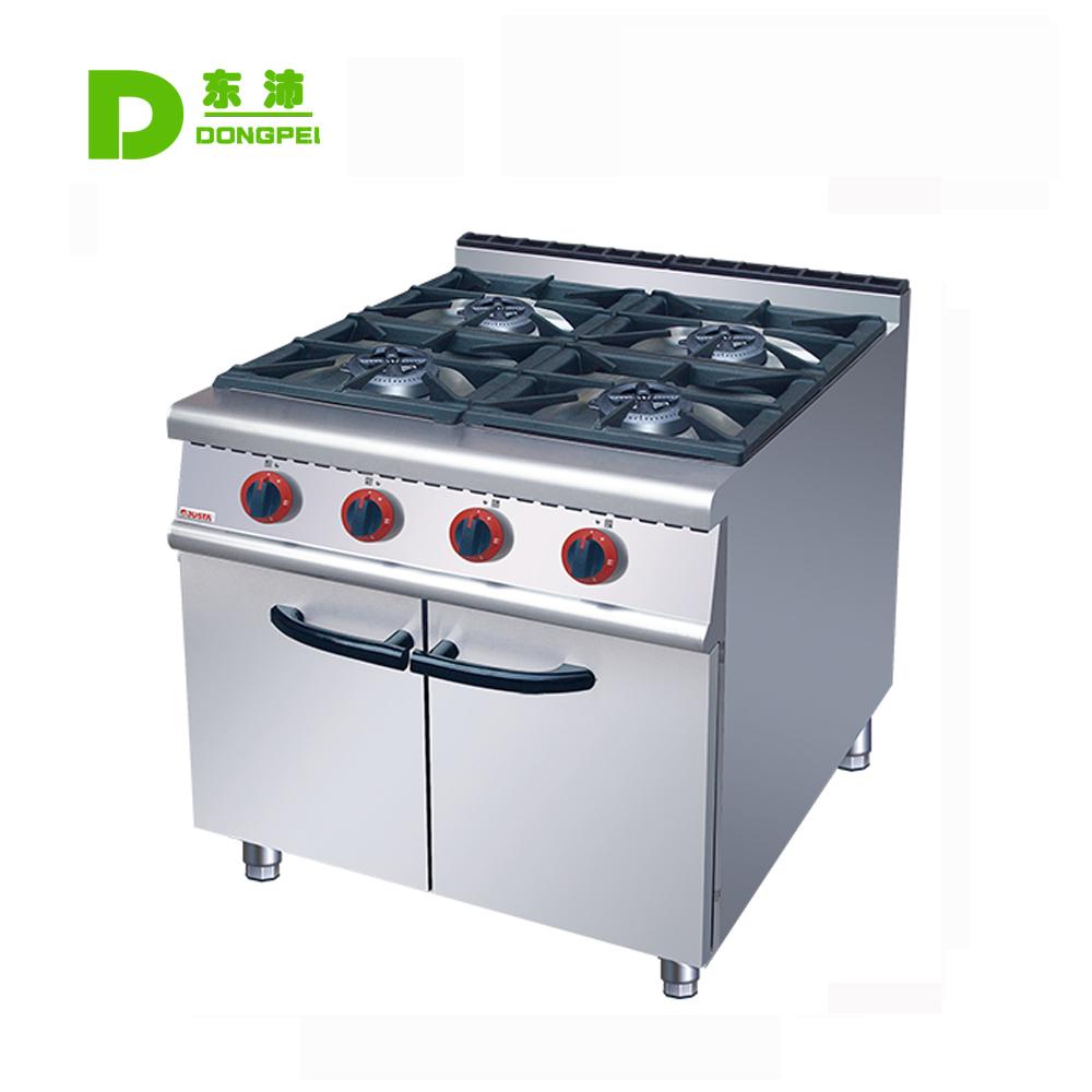 4 Burner Gas Cooking Range Gas Range Cabinet