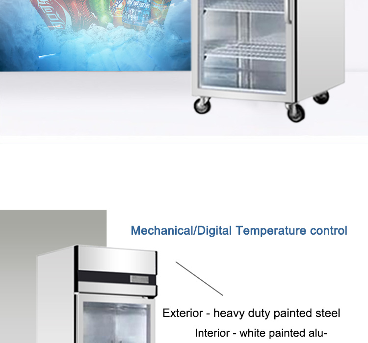 Commercial Refrigerator Display Cabinet Glass Door Cold