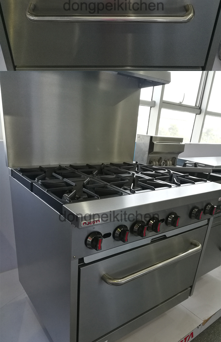 What Is Stainless Steel Made Of >> High Power 6 Burner Gas Range With Gas Oven Gas Stove Gas ...
