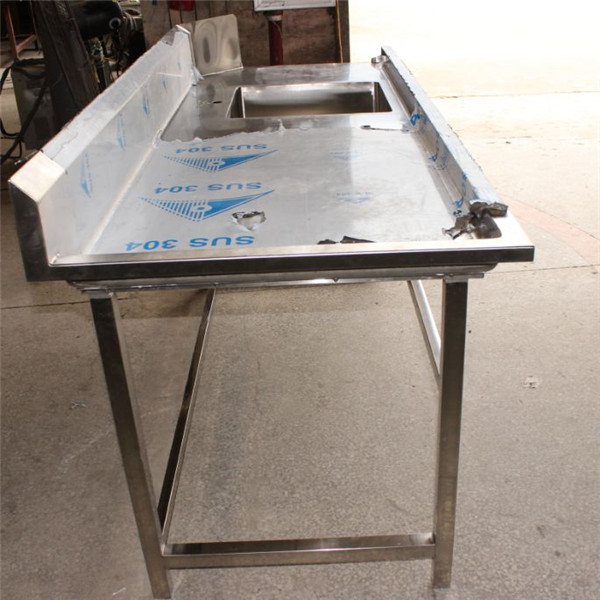 Stainless Steel Pre Cleaning Work Table Customized Kitchen